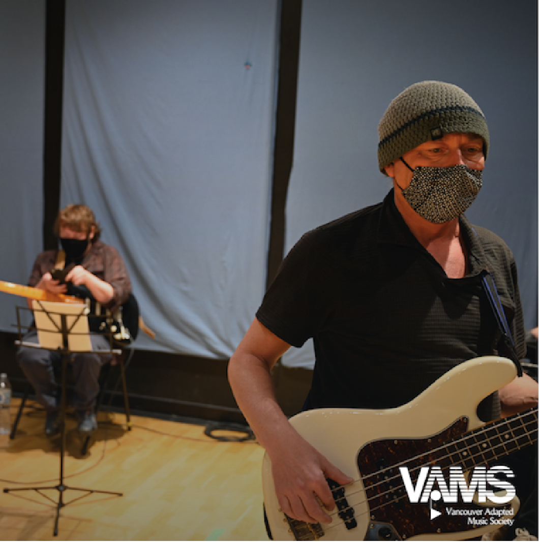 Mark Ash and Band playing in studio.